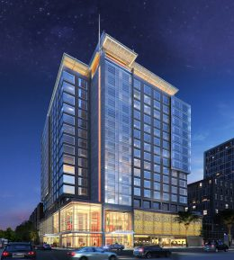100 Channel Street hotel at One Mission Bay, rendering courtesy Hospitality Online