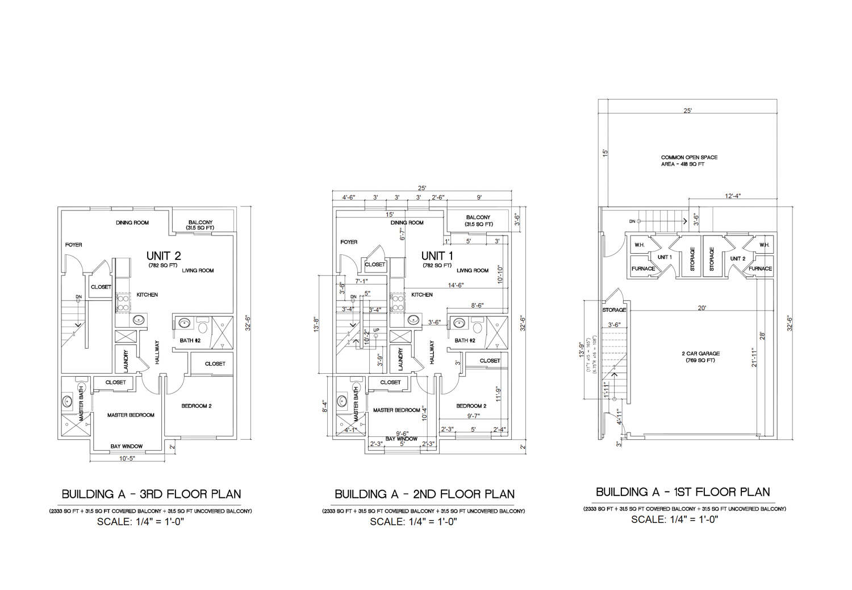 1149 Girard Street Building A floor plates, image courtesy Thomas Lei