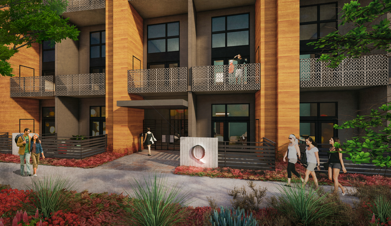 1208 Q Street entrance, design by Ellis Architects