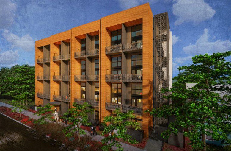 1208 Q Street facing Q Street, design by Ellis Architects