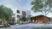 1345 Willow Road entry, rendering by Mithun