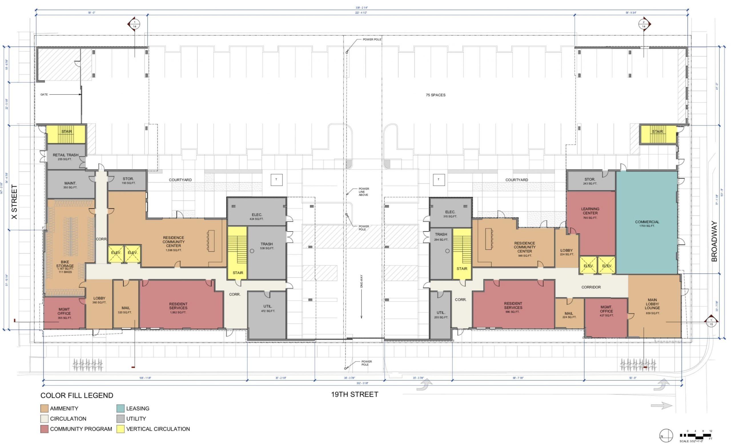 1901 Broadway Floor Plan Level 1