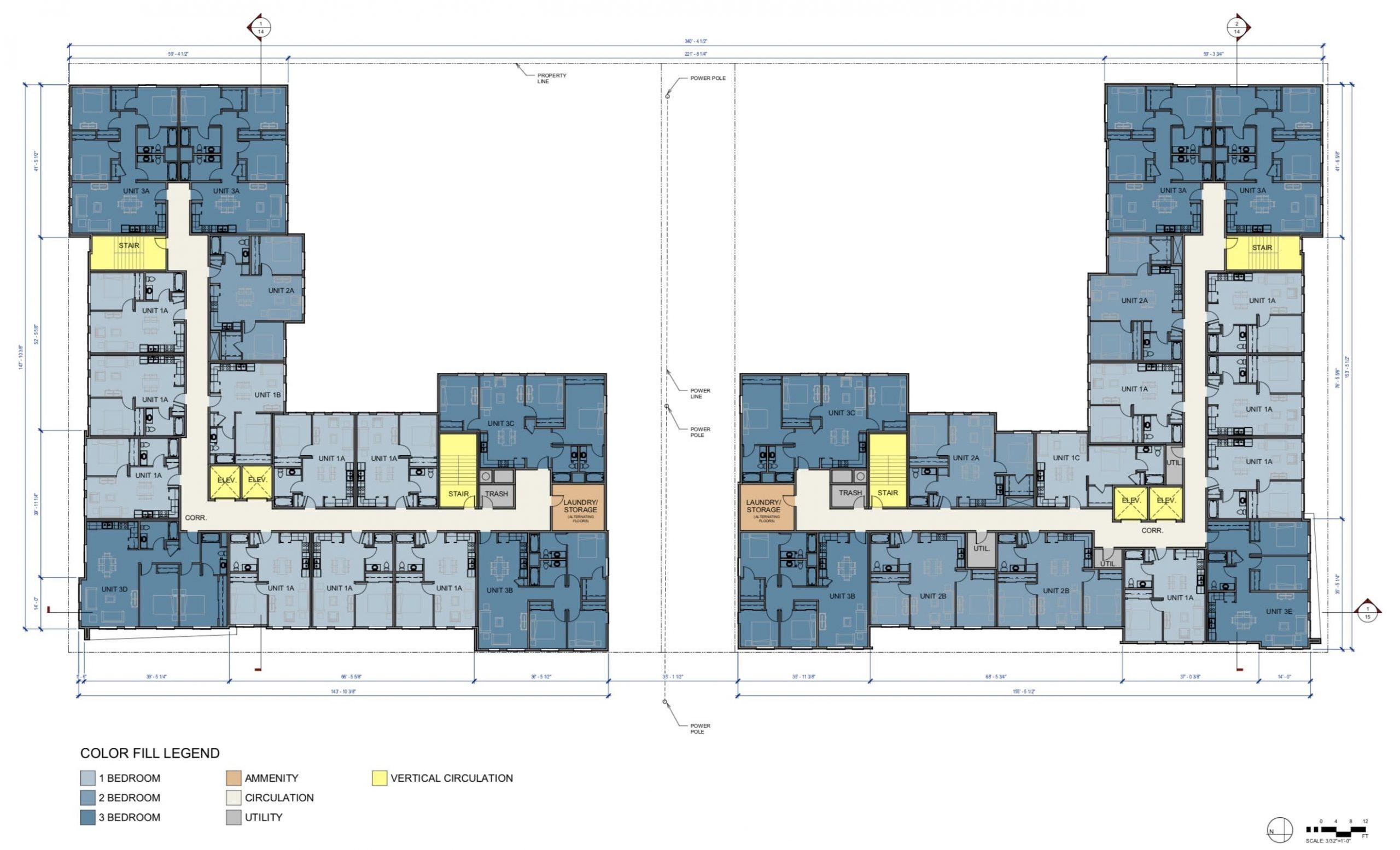 1901 Broadway Floor Plans Level 2-6