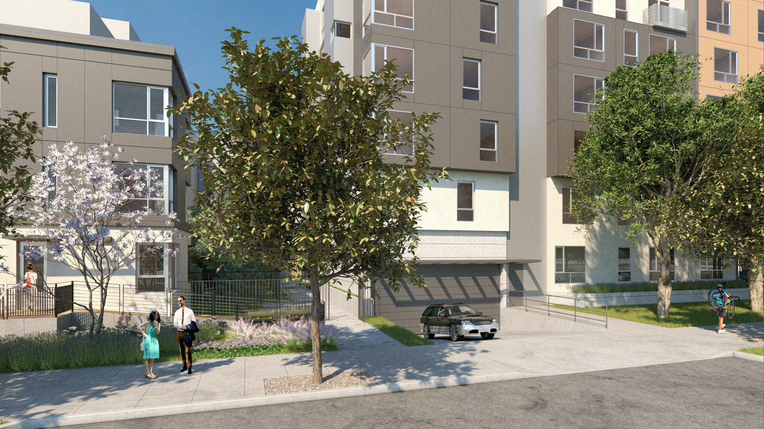 2015 Blake Street garage and landscaping, rendering courtesy Lowney Architects