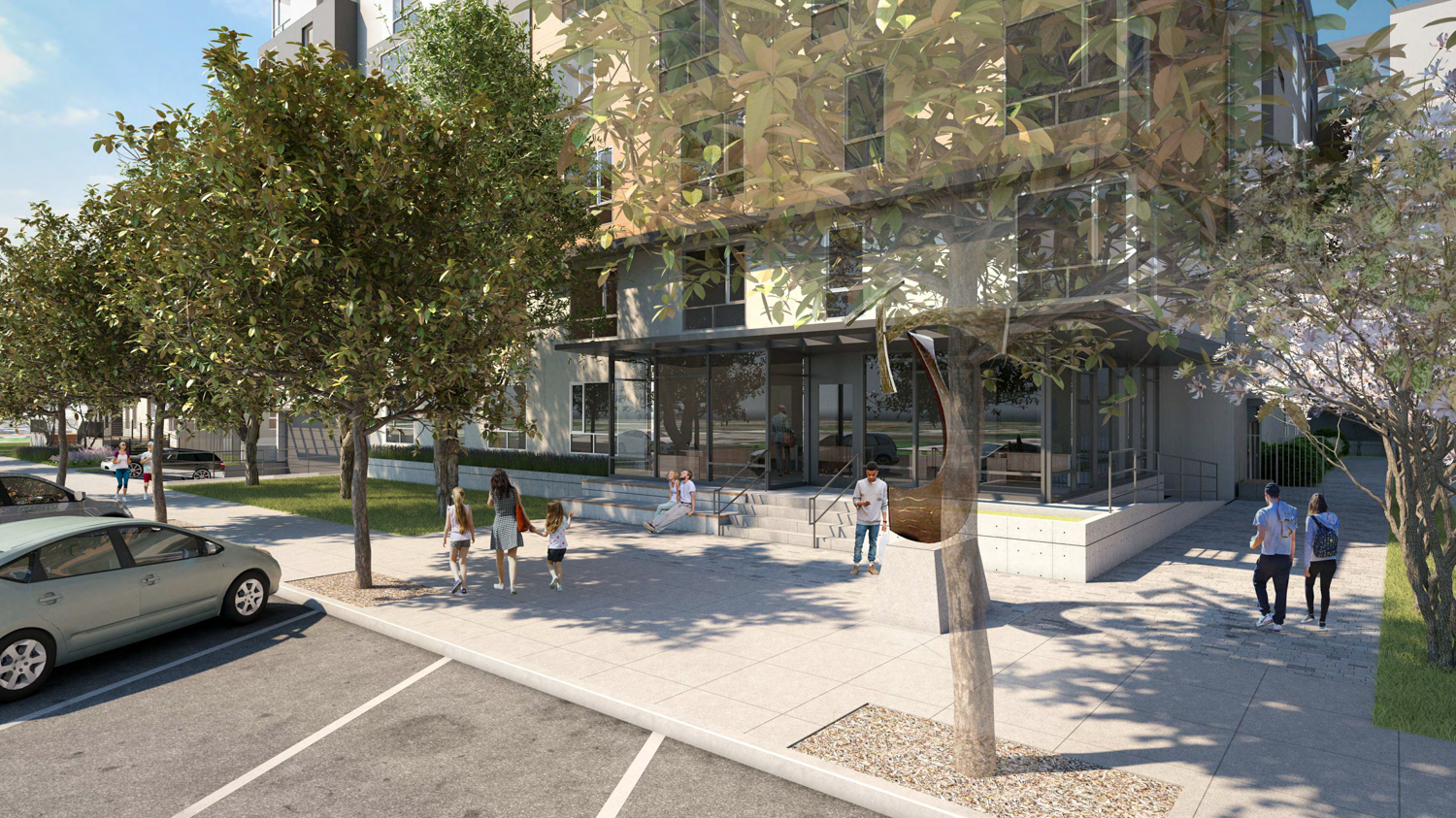 2015 Blake Street pedestrian experience, rendering courtesy Lowney Architects