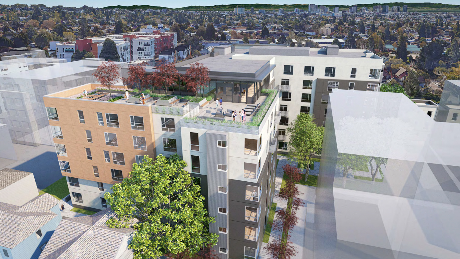 2015 Blake Street rooftop terrace, rendering courtesy Lowney Architects