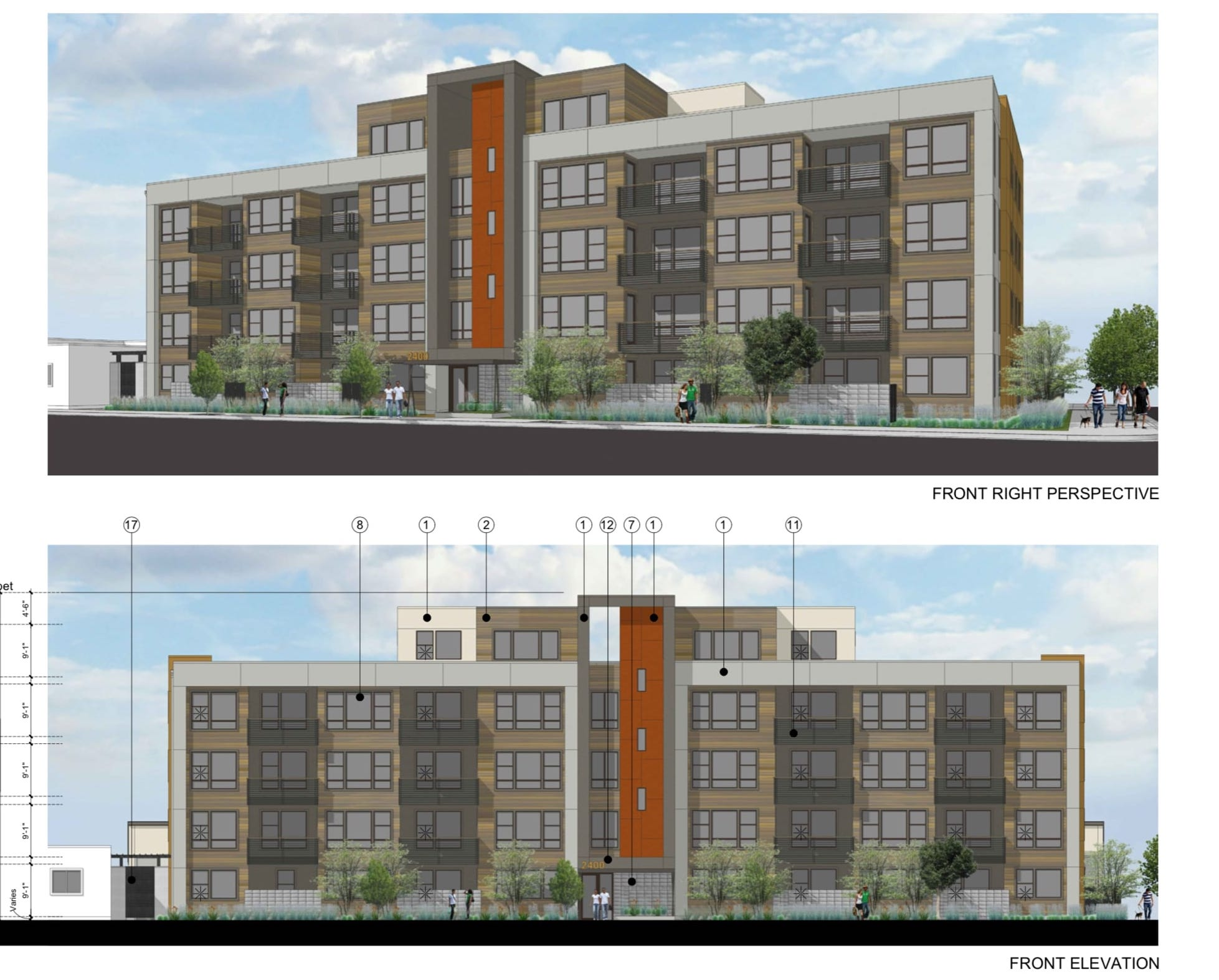 2400 Adeline Street Conceptual Elevations