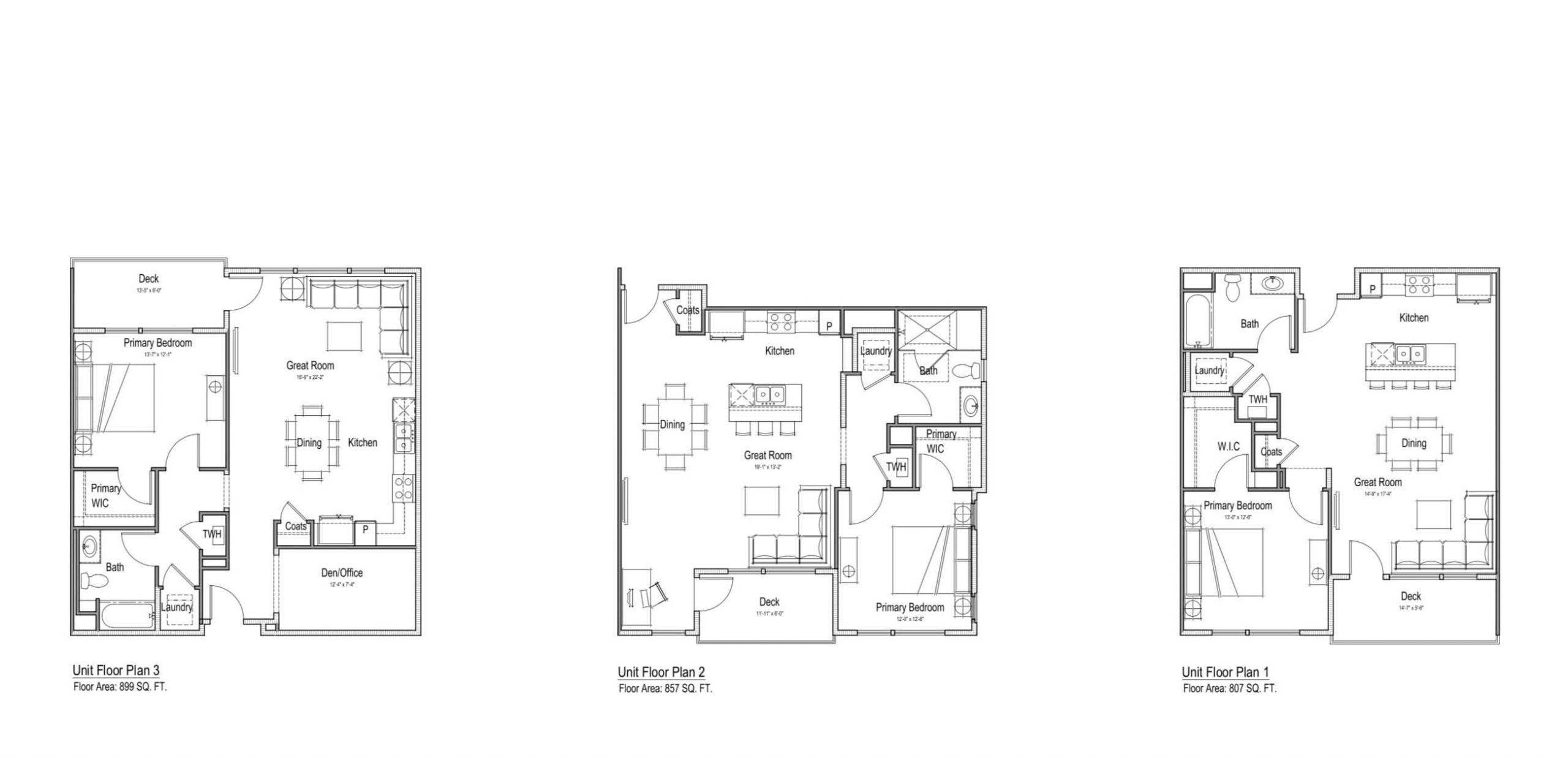 2400 Adeline Street Unit Floor Plans