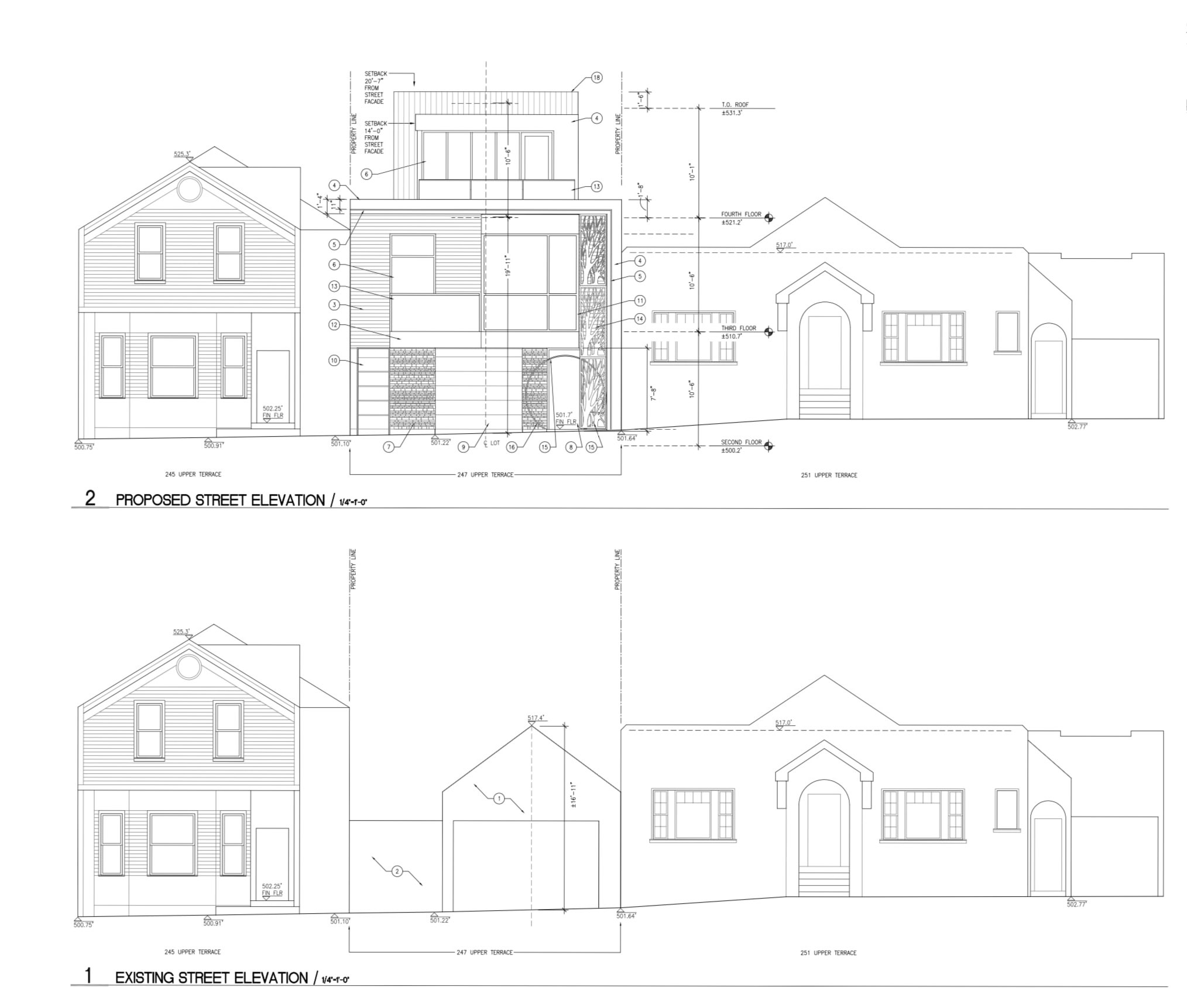 247 Upper Terrace Street Elevation