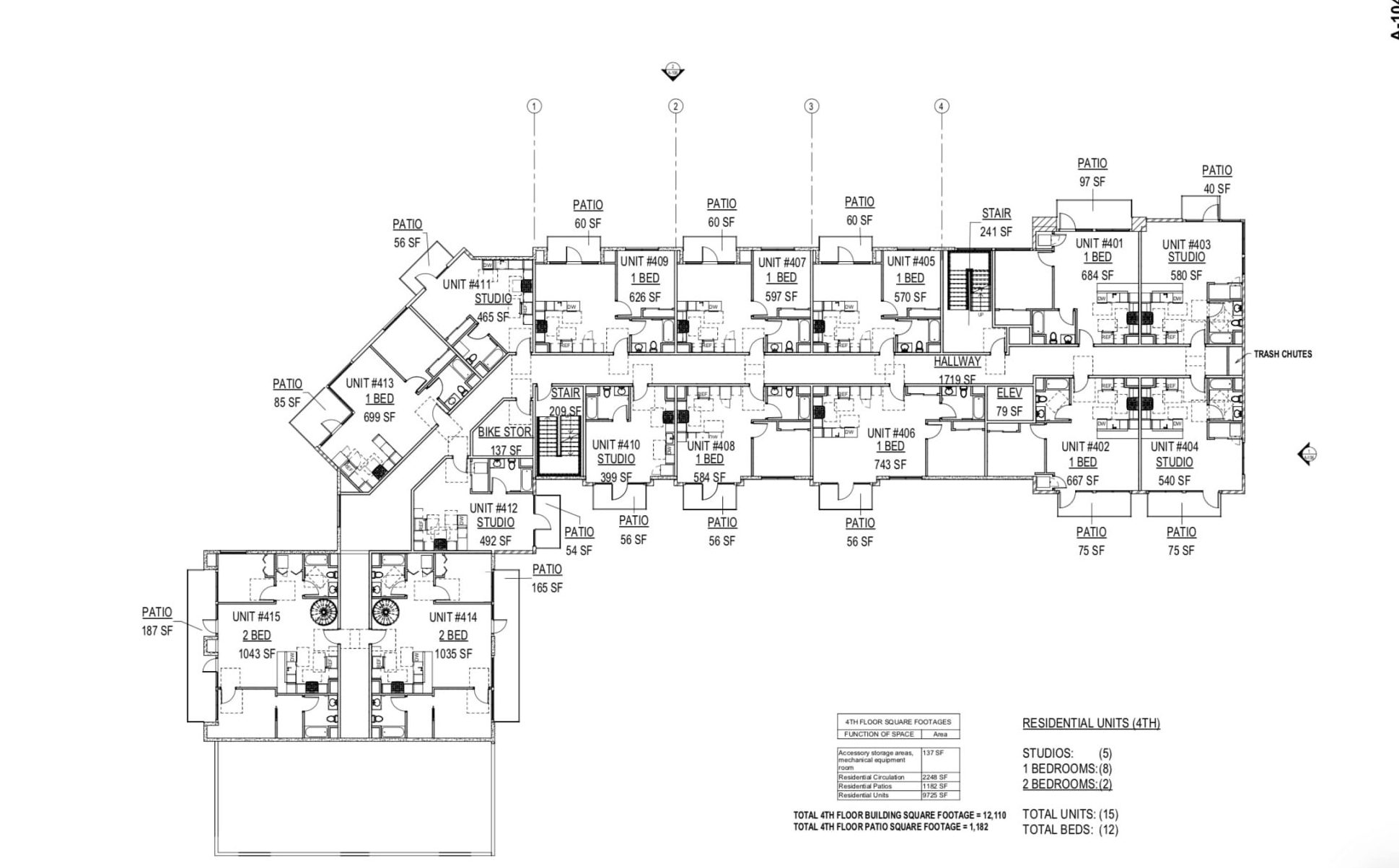 2500 16th SAC Fourth Floor Plan