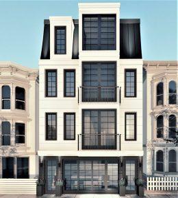 2536 California Street front facade, rendering via EAG Studio