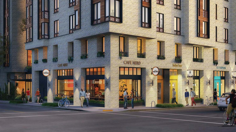 2590 Bancroft Way ground level, rendering by Trachtenberg Architects