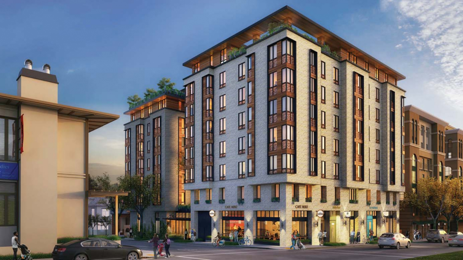 2590 Bancroft Way, rendering by Trachtenberg Architects