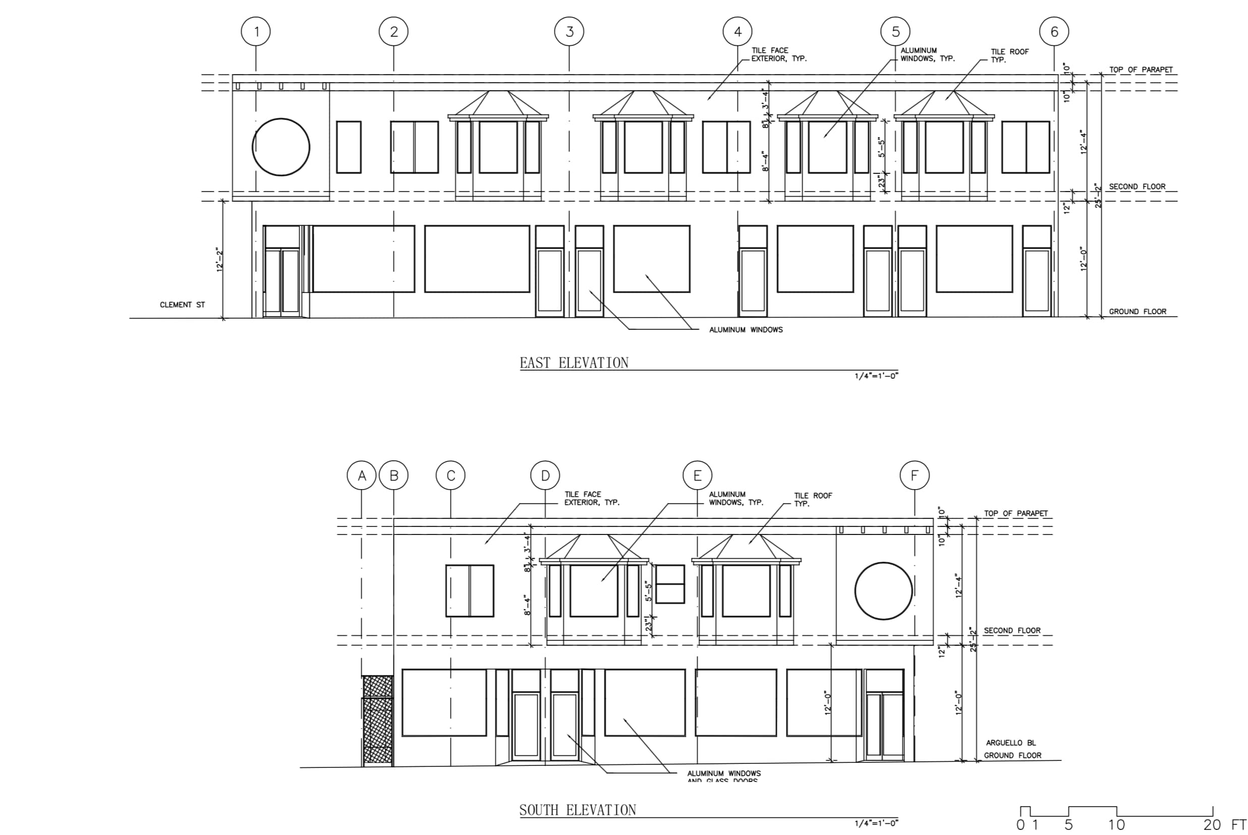 399 Arguello Proposed Elevation