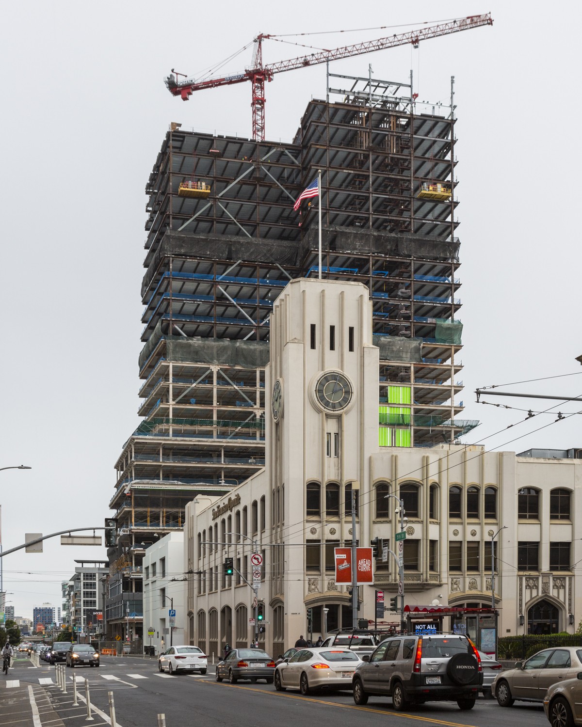 415 Natoma Street beside the SF Chronicle building, image by author