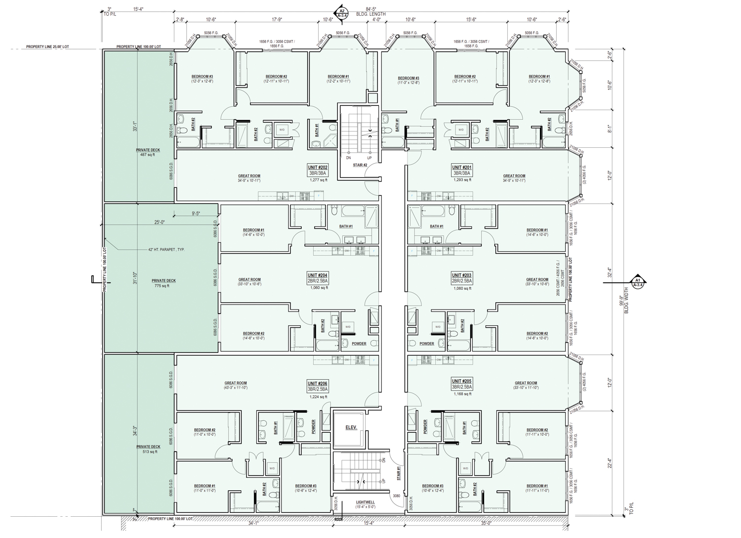 4550 Mission Street floor plan from previous proposal, design by Schaub Ly Architects