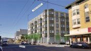 4550 Mission Street from previous proposal, design by Schaub Ly Architects