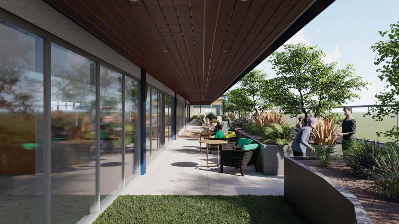 470 West San Carlos Street roof deck perspective, rendering via City Planning documents