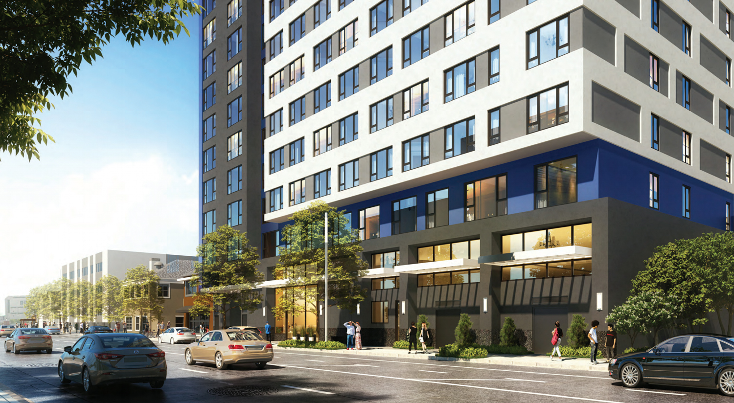 475 South 4th Street ground view, rendering by BDE Architecture