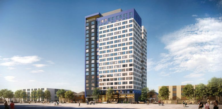 475 South 4th Street side view, rendering by BDE Architecture