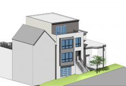 611 Rhode Island Street front facade, image via SIA Consulting