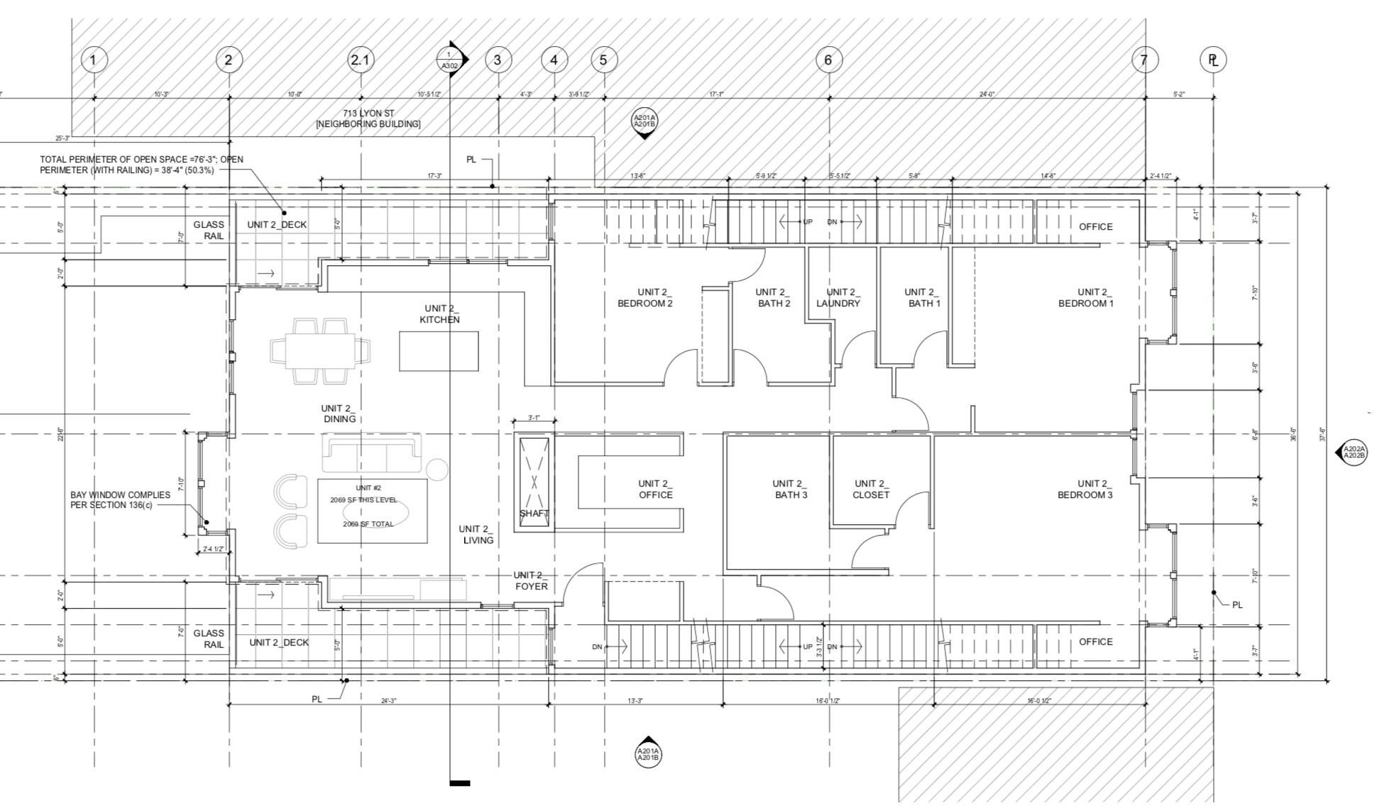 709 Lyon Street Floor Plan Level 2