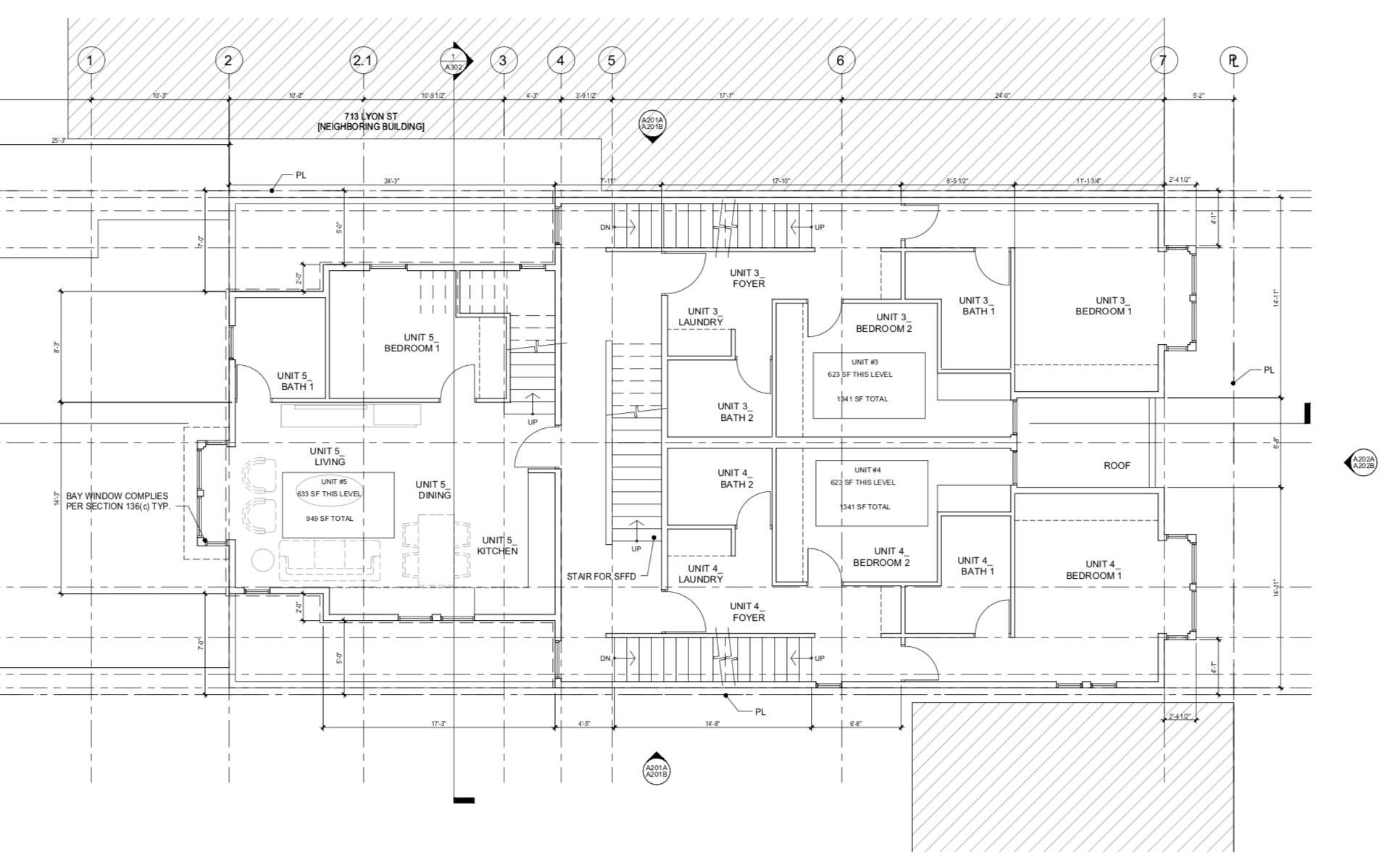 709 Lyon Street Floor Plan Level 3