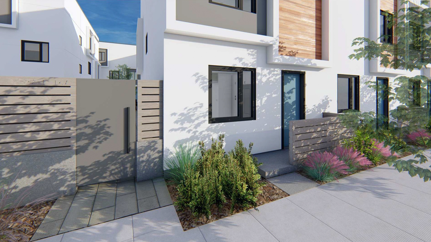 825 6th Avenue townhouse entrance, rendering by Baran Studio Architecture