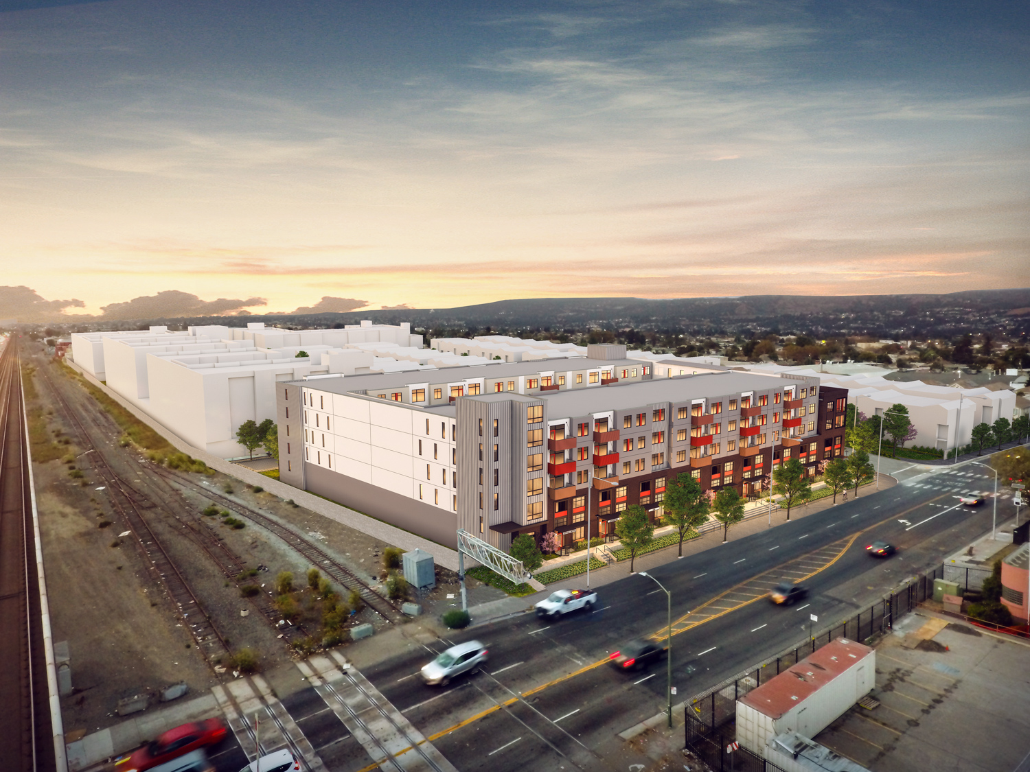 921 98th Street view from BART, image courtesy Madison Park
