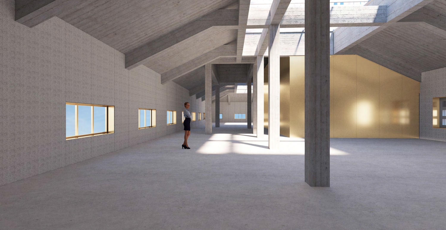 Bank of Italy proposed Attic Office, rendering by Bjarke Ingels Group
