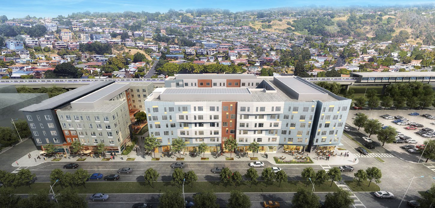 Mayfair Apartments one BART station from the El Cerrito Plaza, El Cerrito del Notre BART, developed by Holliday Development