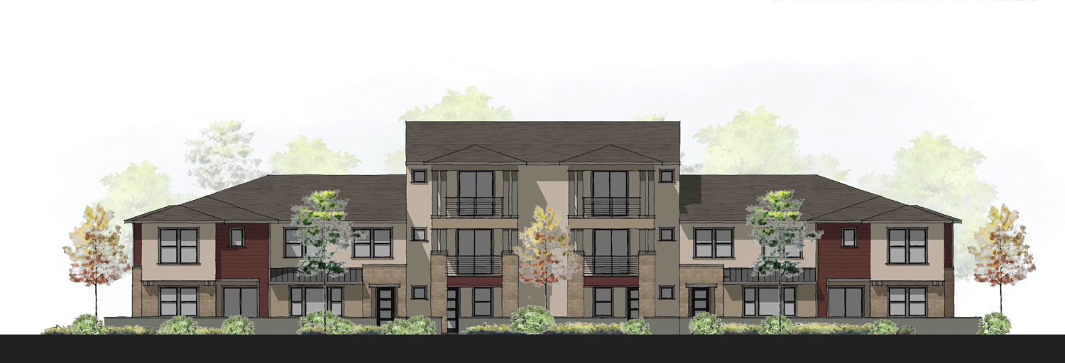 Modern Prairie townhouses for Edgeview at the Cove, drawing by JDA
