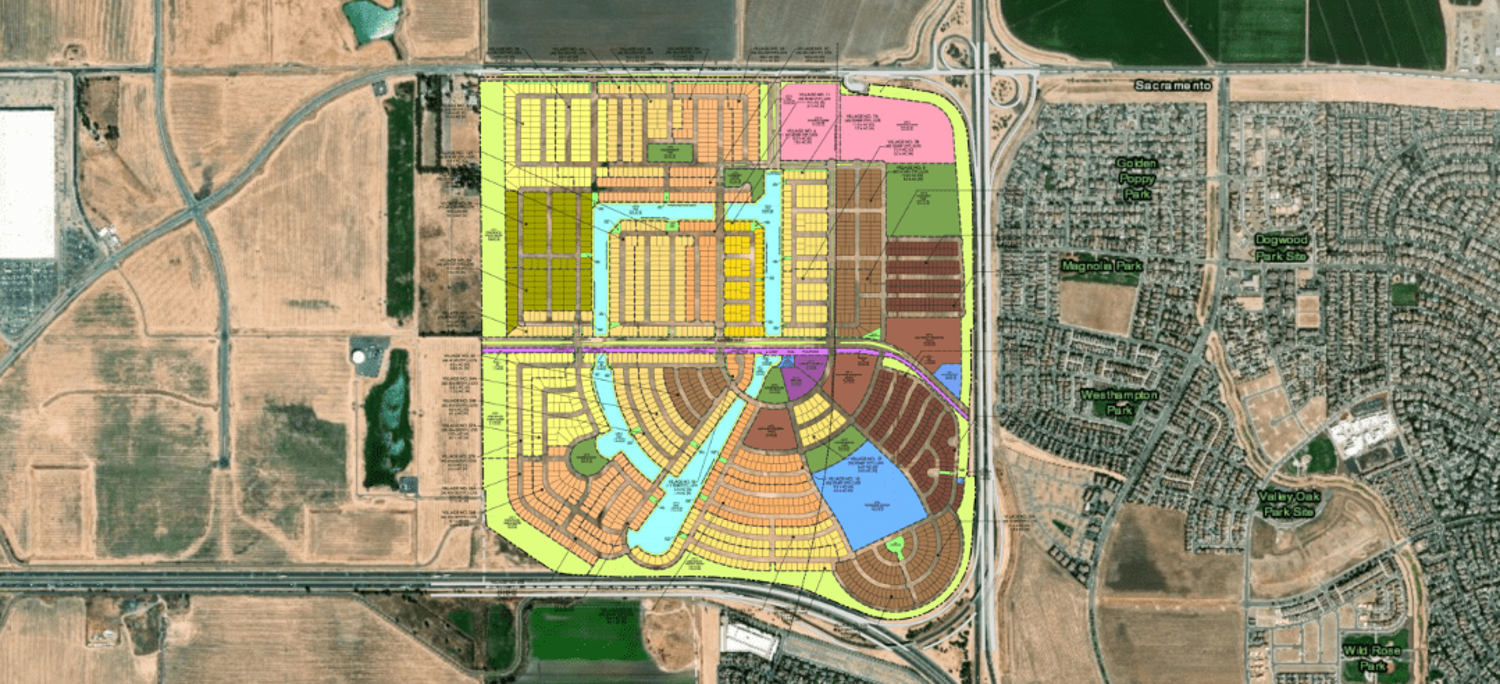 Northlake development planning map, via Wood Rodgers