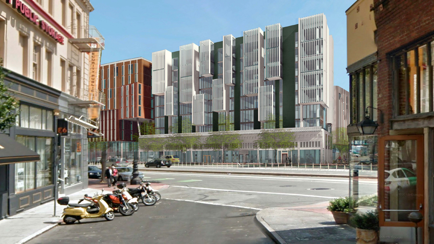 1 Brady Street viewed from Rose Street, design by Kennerly Architects