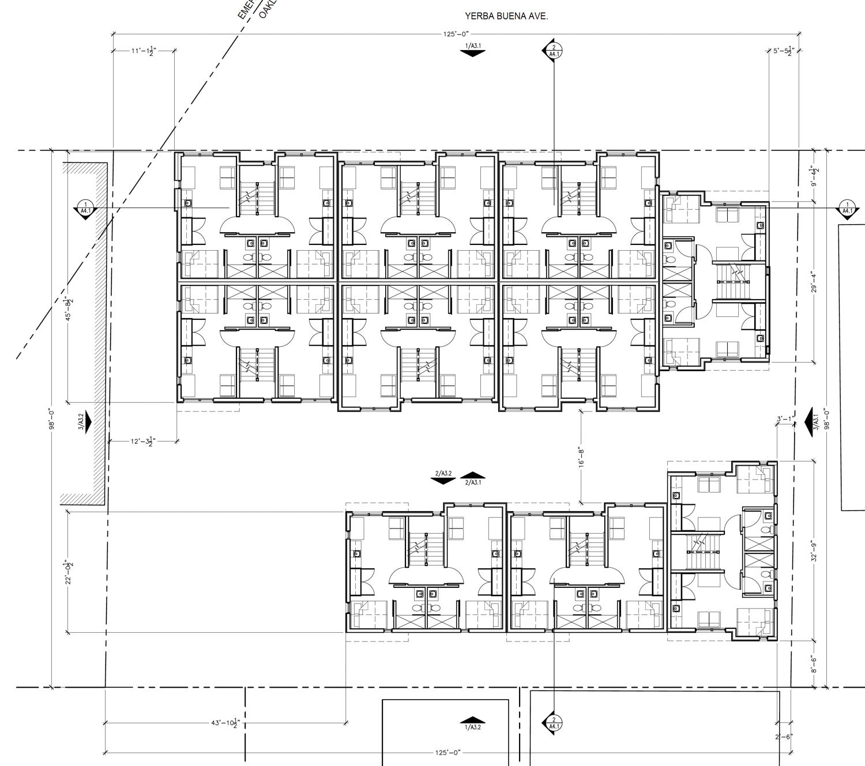 1035 Yerba Buena Avenue floor plan, drawing via Levy Design Partners