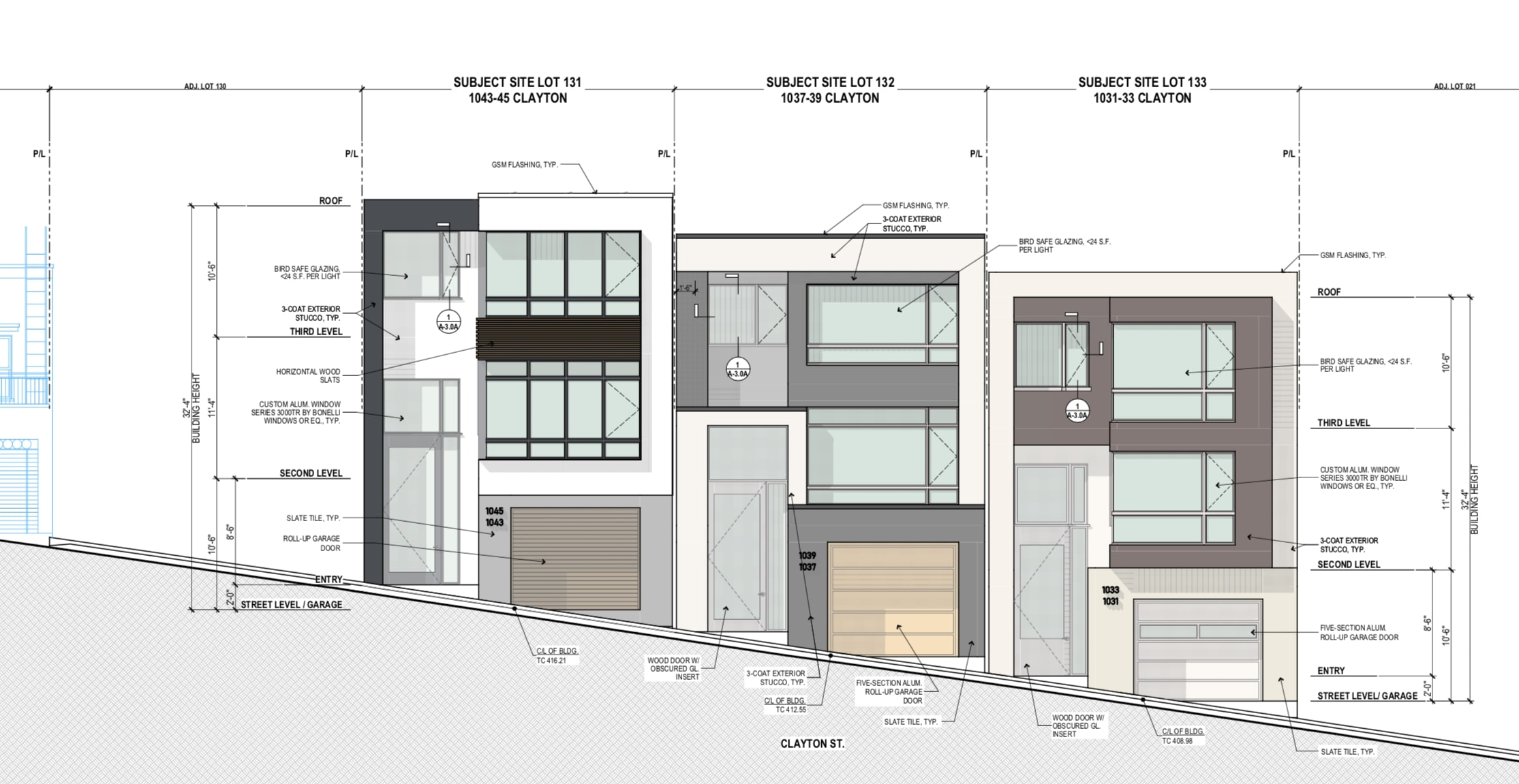 1043-45 Clayton St Proposed Elevation