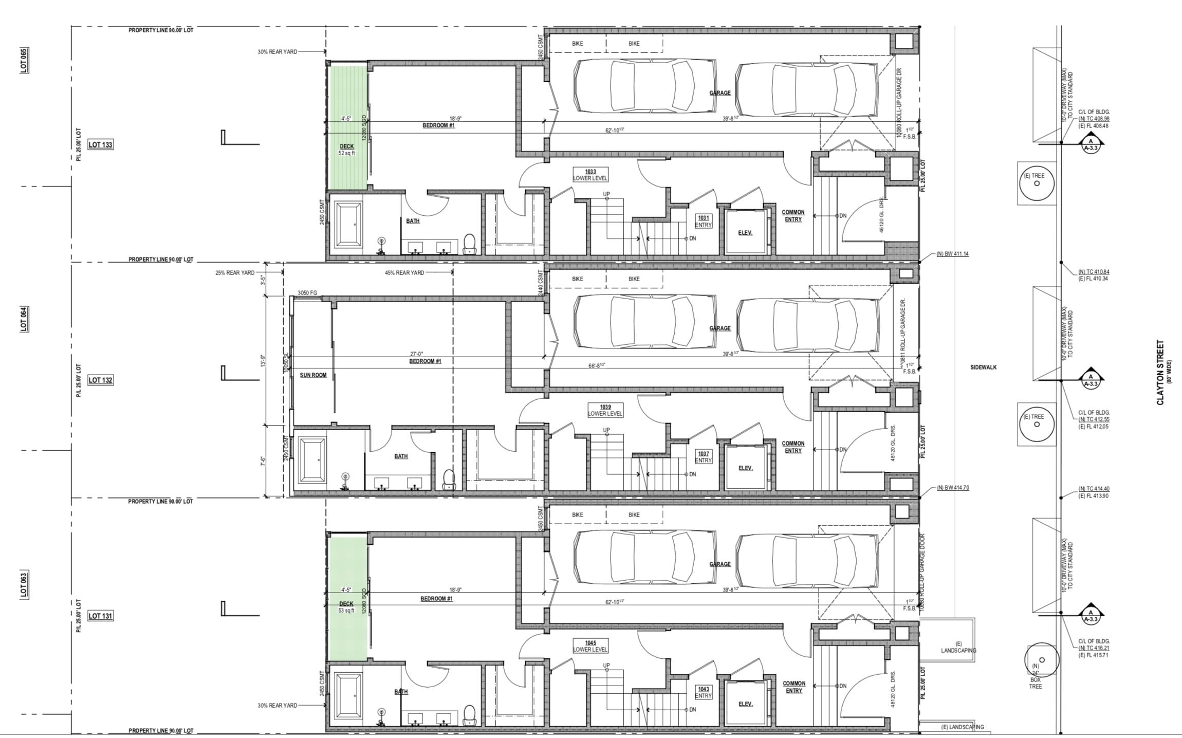 1043-45 Clayton St Proposed Ground Floor Plan