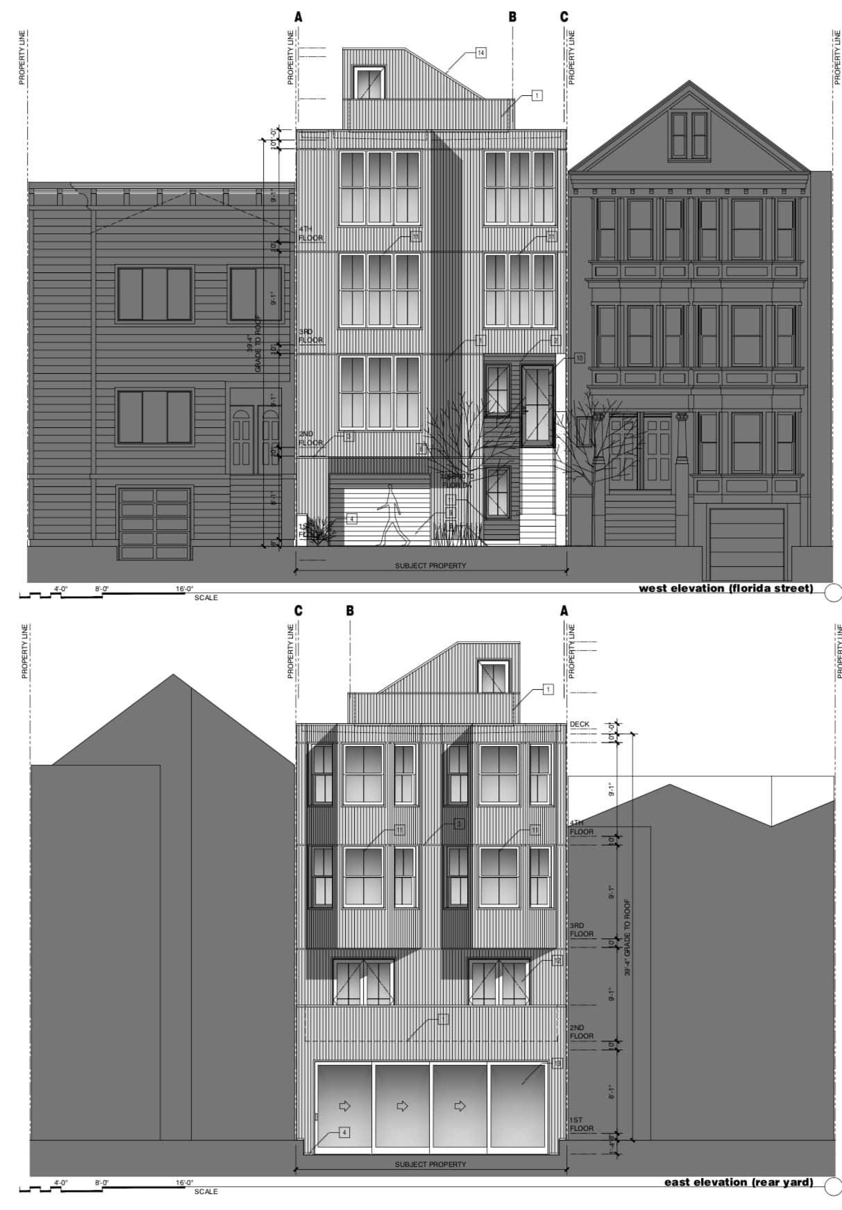 1068 Florida Street Elevations