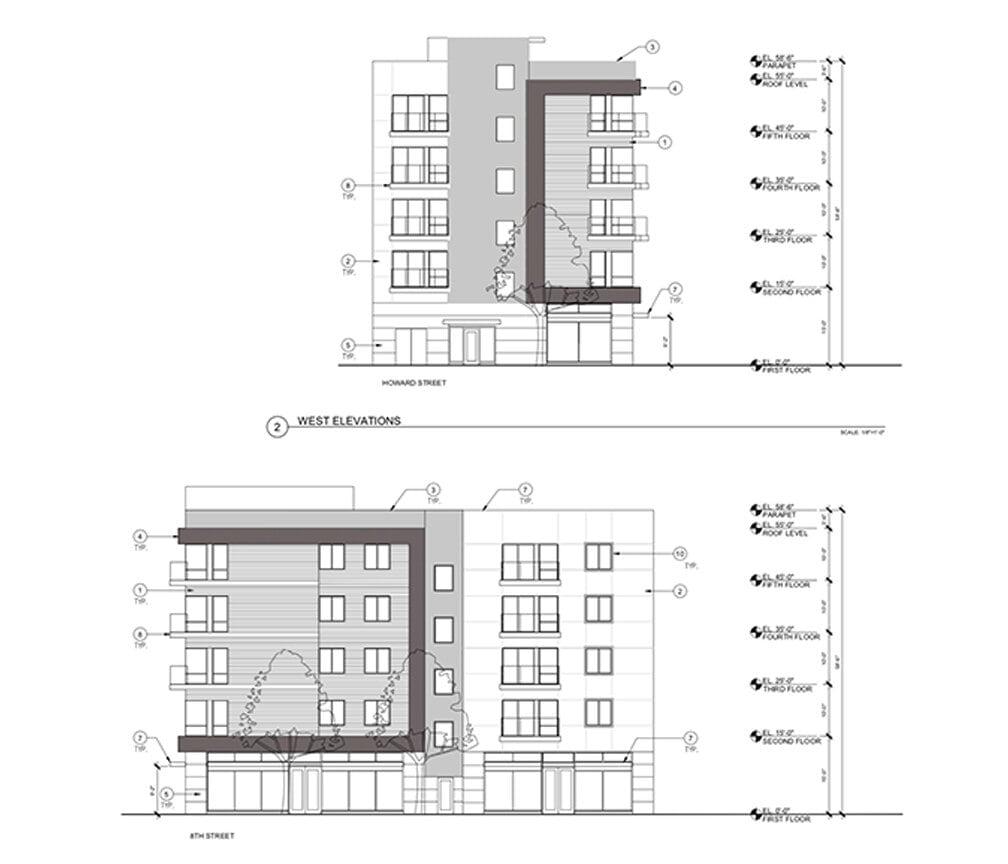 1204 Howard Street Elevations