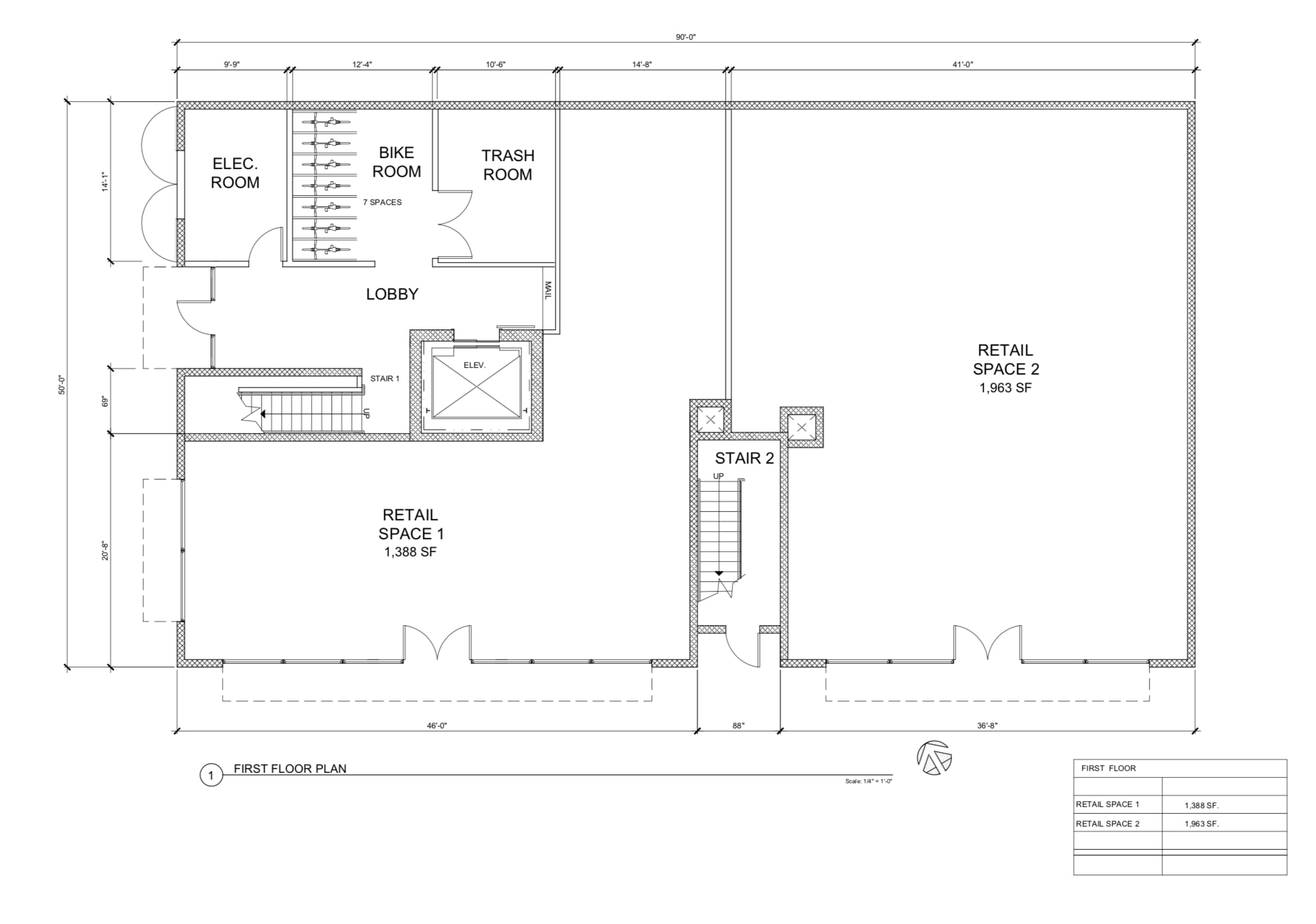 1204 Howard Street First Floor Plan