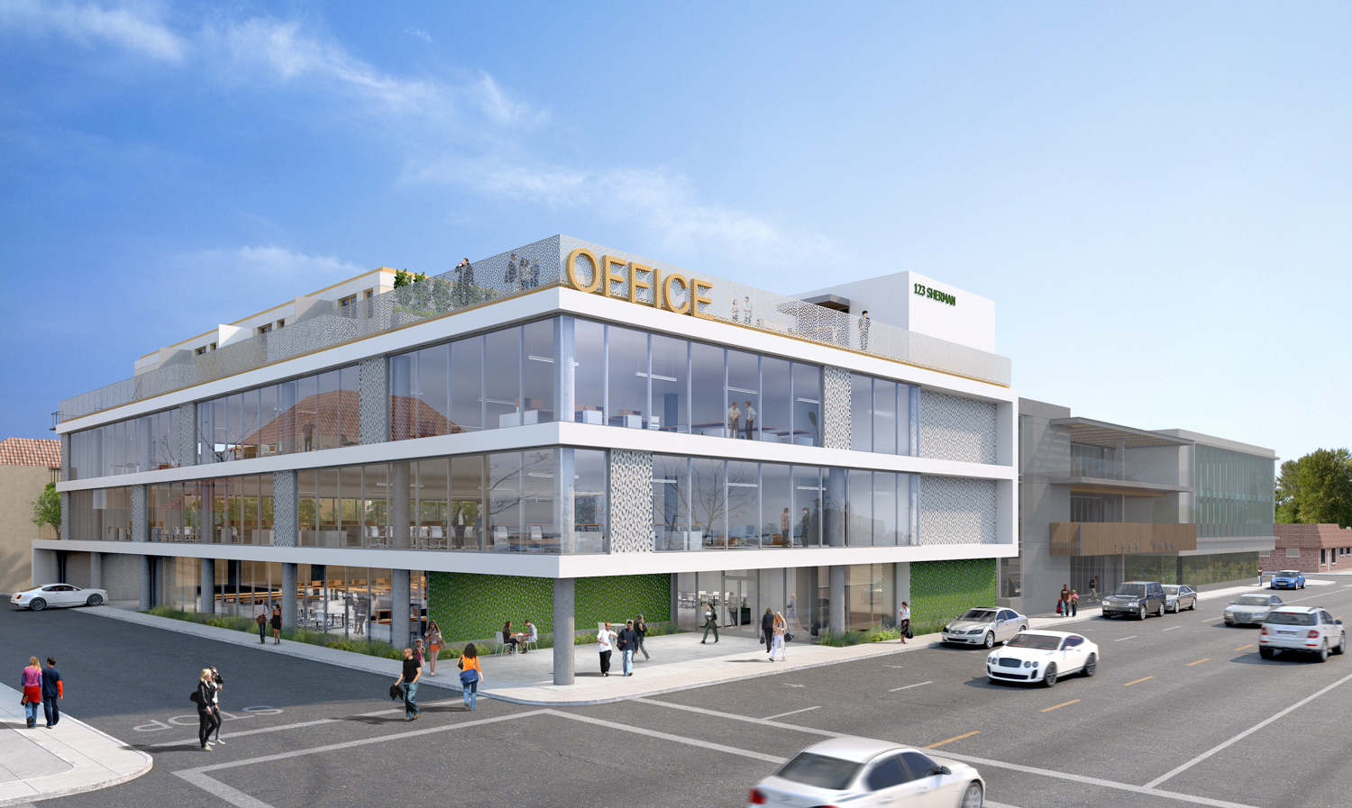 123 Sherman Avenue office building, rendering by KSH Architects
