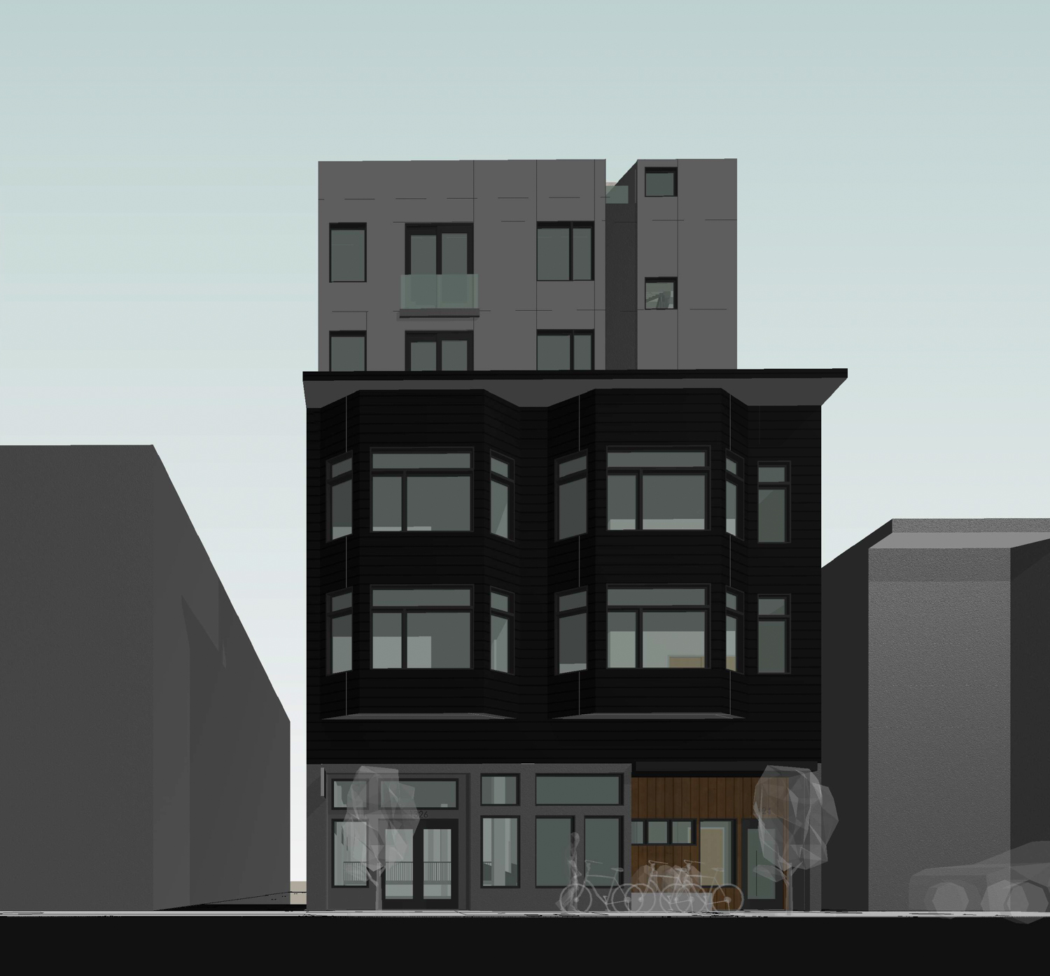 1324-1326 Powell Street front view, elevation by Axis GFA