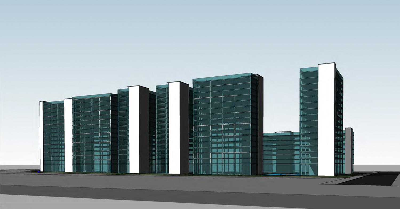 1325 East Julian Street development, massing by Anderson Architects