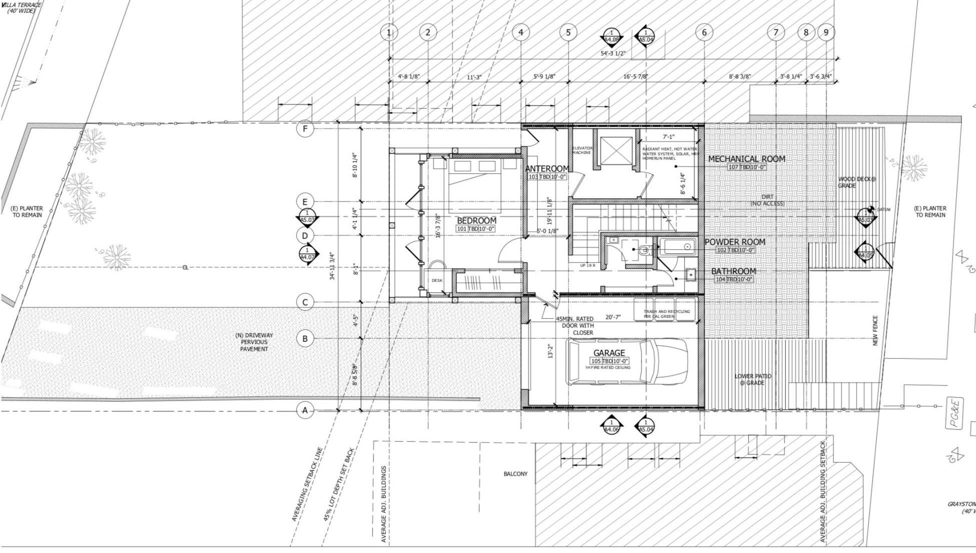 135 Graystone Terrace First Floor Plan