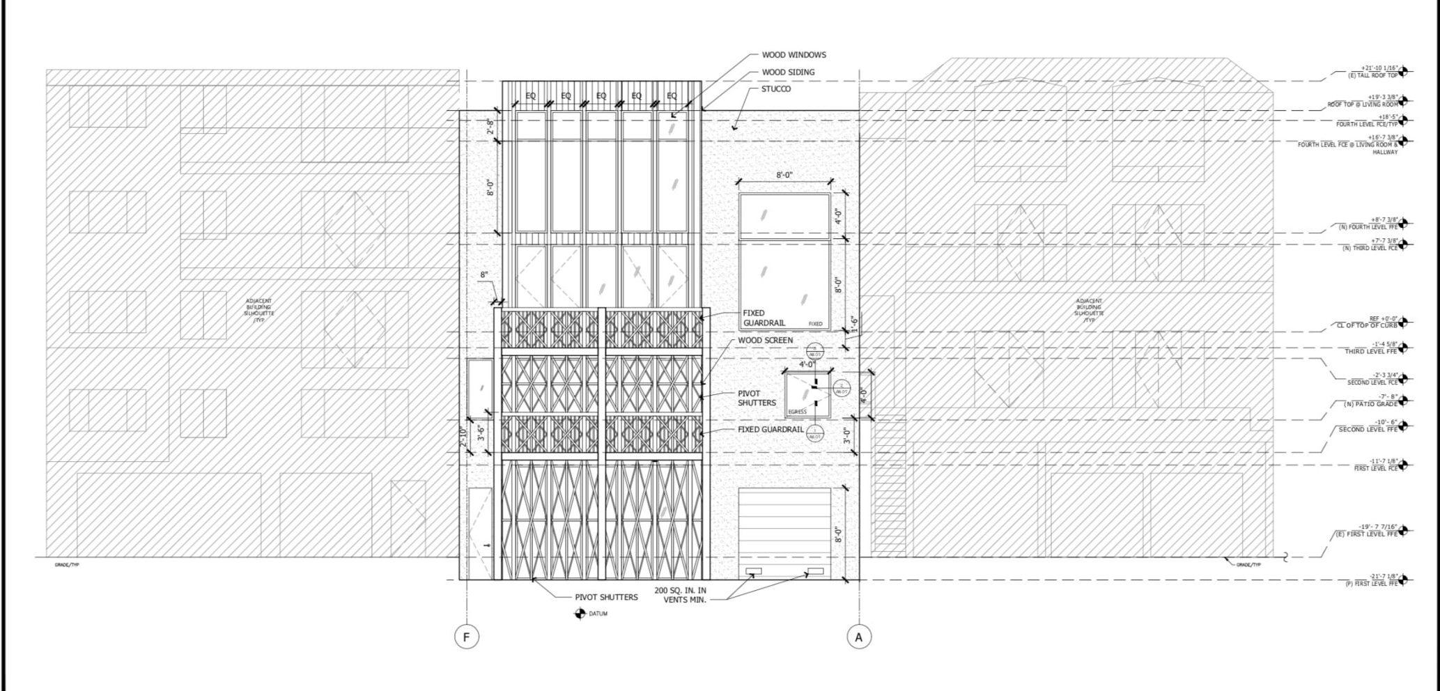 135 Graystone Terrace Rear Facade