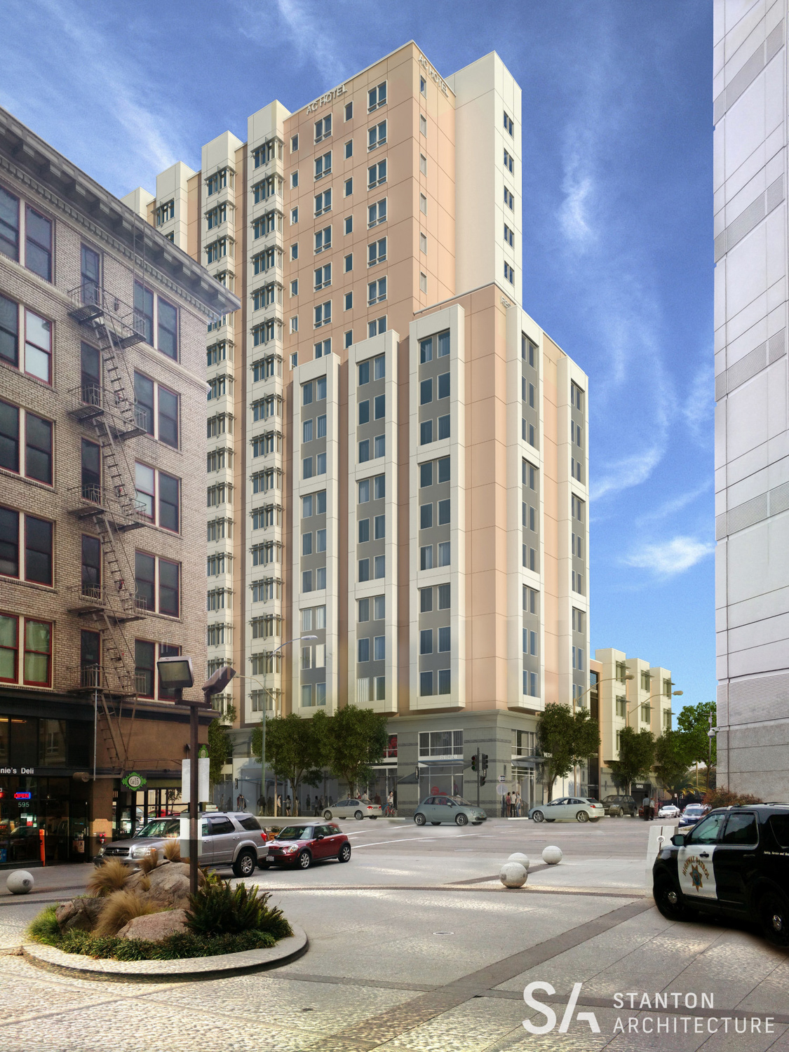 1431 Jefferson Street vertical view, rendering from Stanton Architecture
