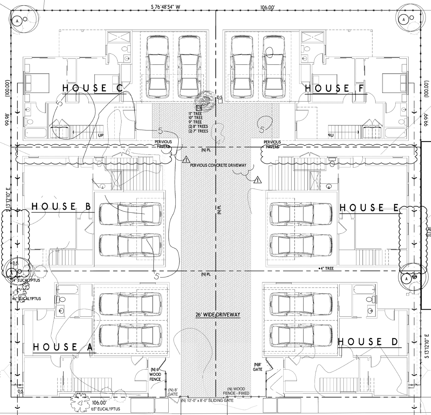1608-1618 32nd Street, elevation drawing by ReMod Homes