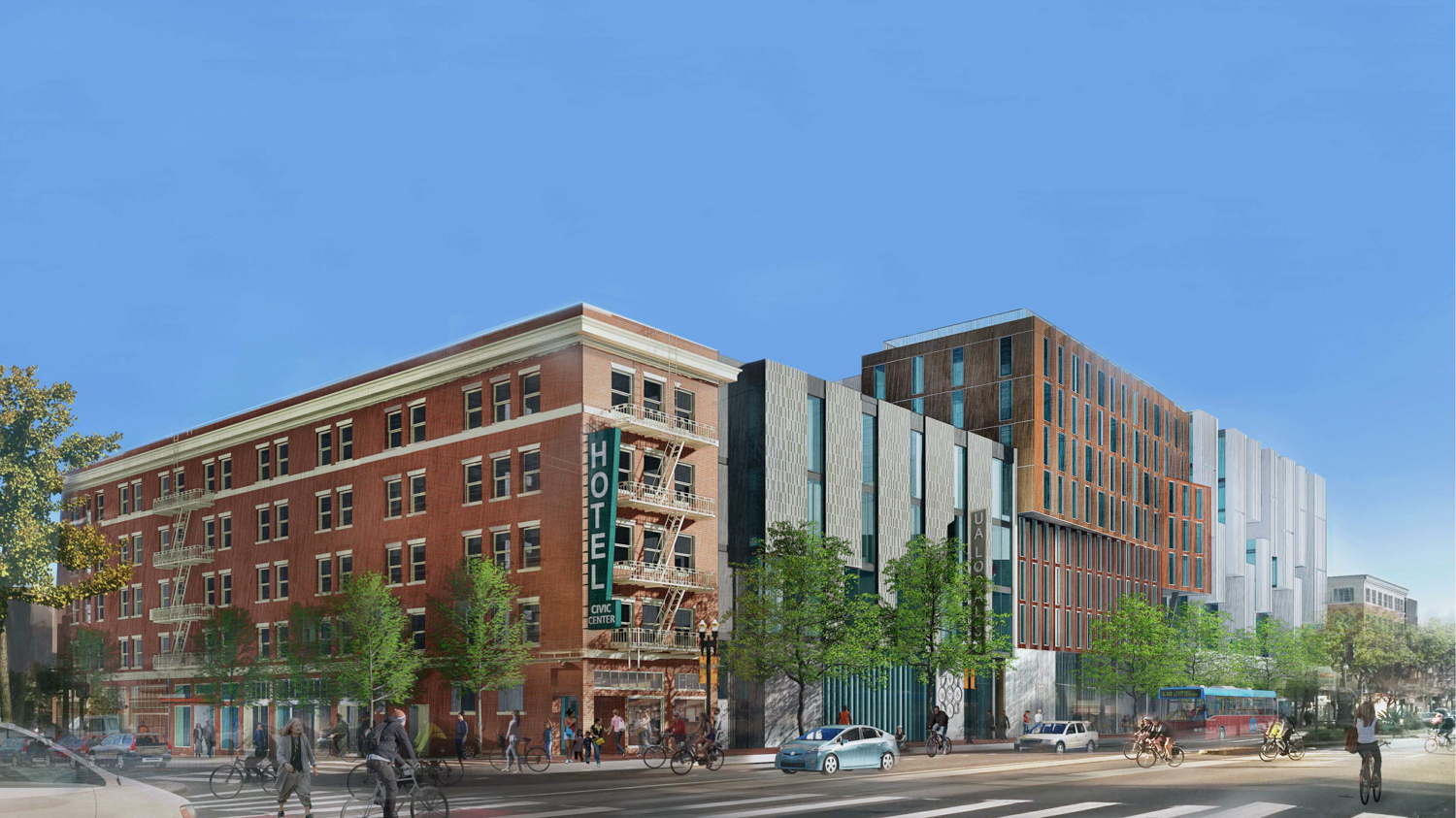 1629 Market Street from Market and 12th Street, design by Kennerly Architects