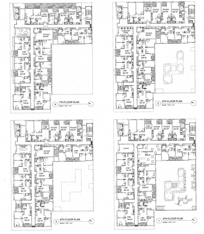 21 North 21st Street floor plans, design by OJK Architecture