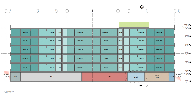 2116 Brush Street interior floor plan, design by Lowney Architects